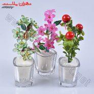 گل و گلدان کریستالی