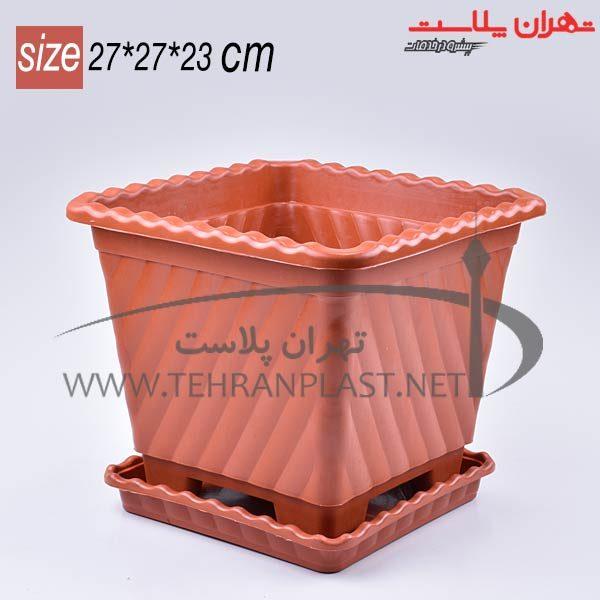 گلدان مربع415موج زیردار