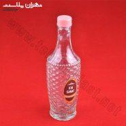 بطری آب آناناسی درب رنگی